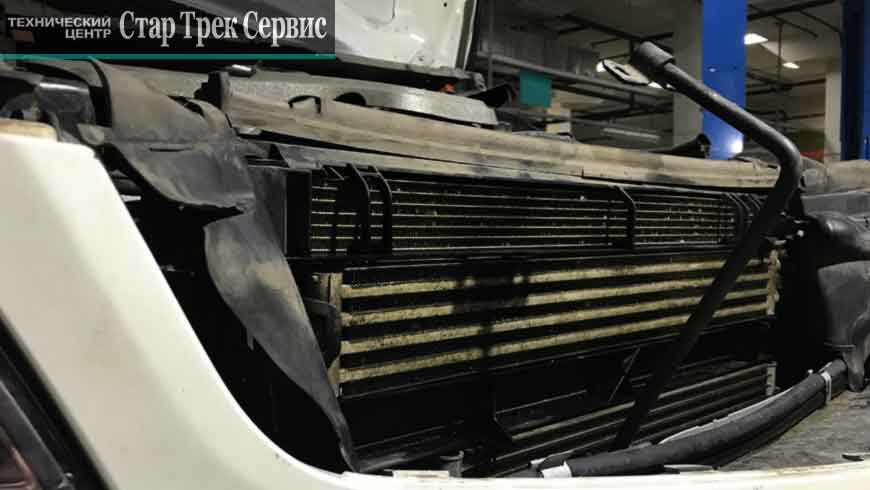 мойка радиатора Мерседес AMG C63 Стар Трек Сервис